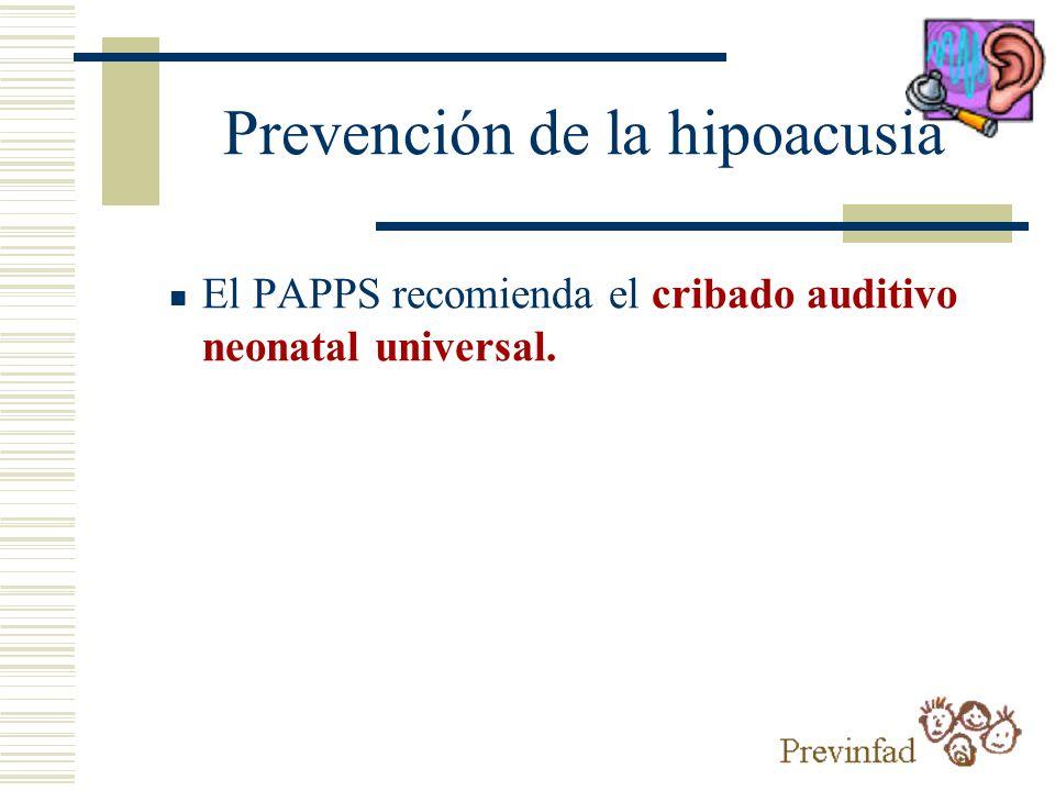 Prevención de la hipoacusia