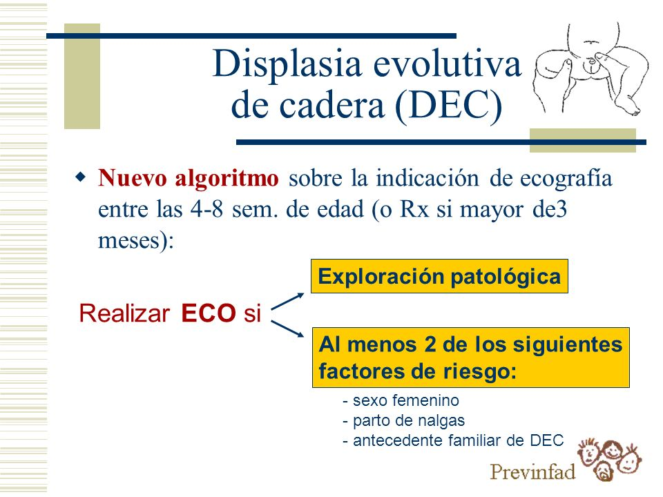 Displasia evolutiva de cadera (DEC)
