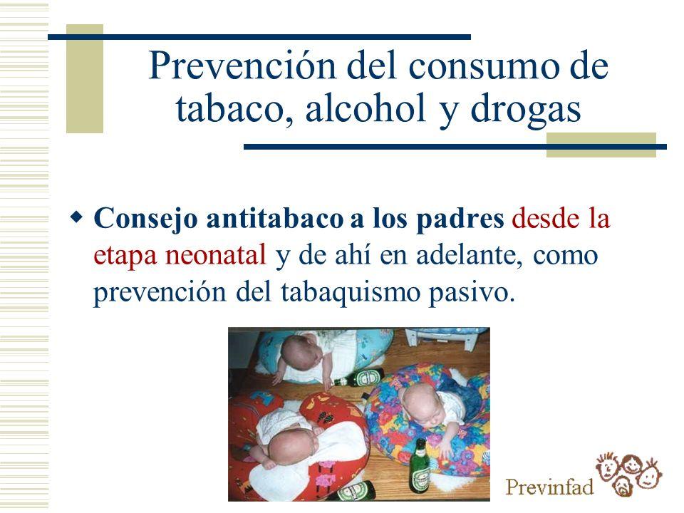 Prevención del consumo de tabaco, alcohol y drogas
