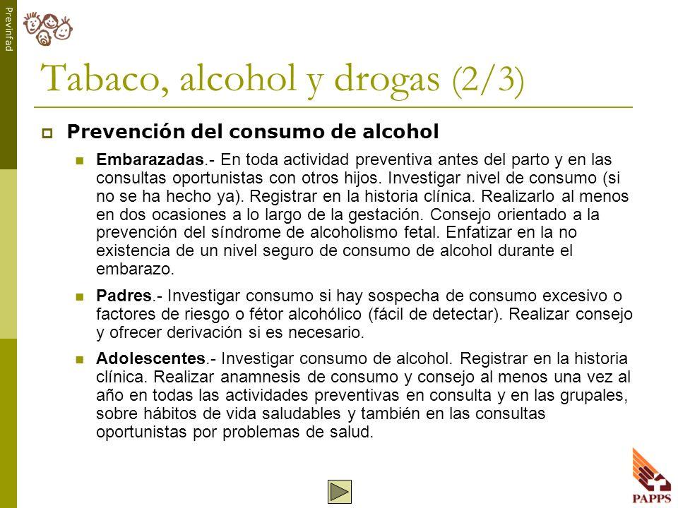 Tabaco, alcohol y drogas (2/3)