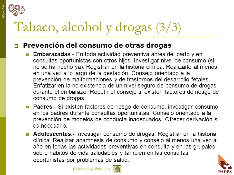 Tabaco, alcohol y drogas (3/3)