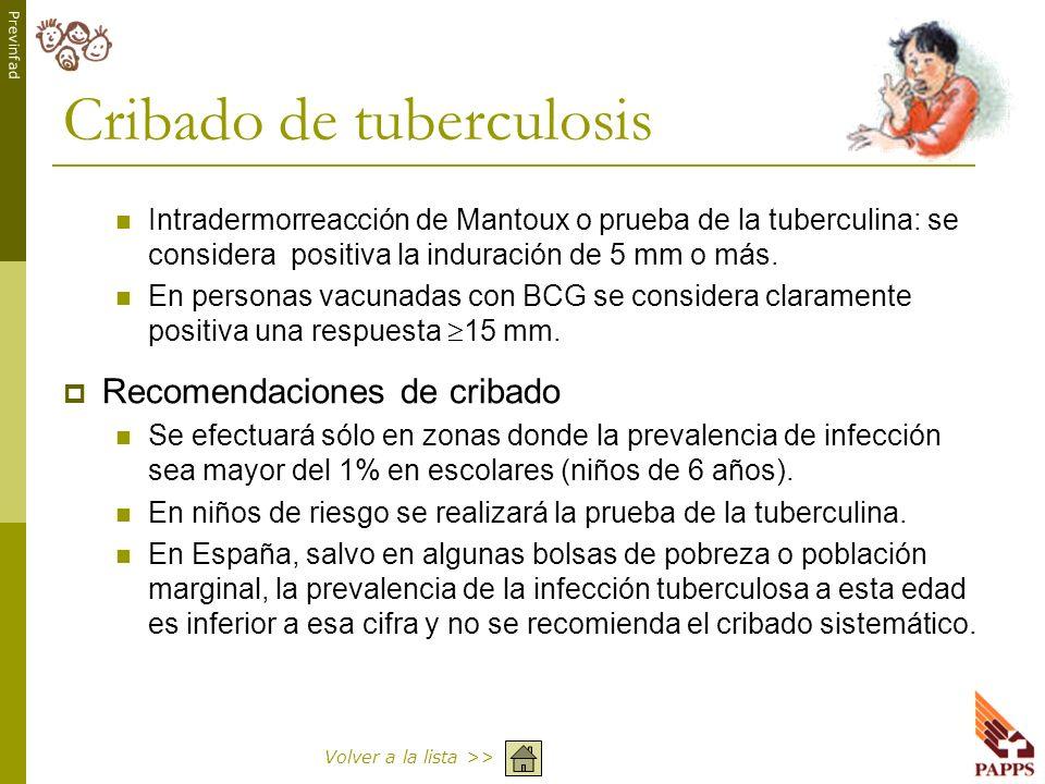 Cribado de tuberculosis