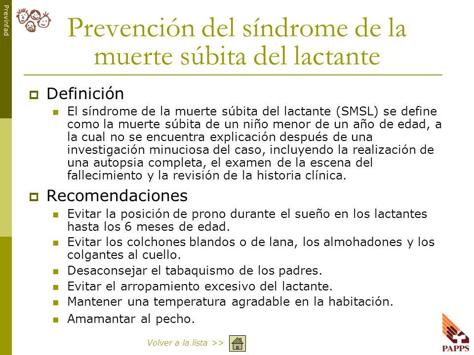 Prevención del síndrome de la muerte súbita del lactante