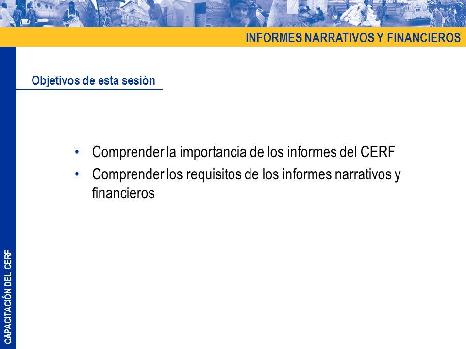 Comprender la importancia de los informes del CERF