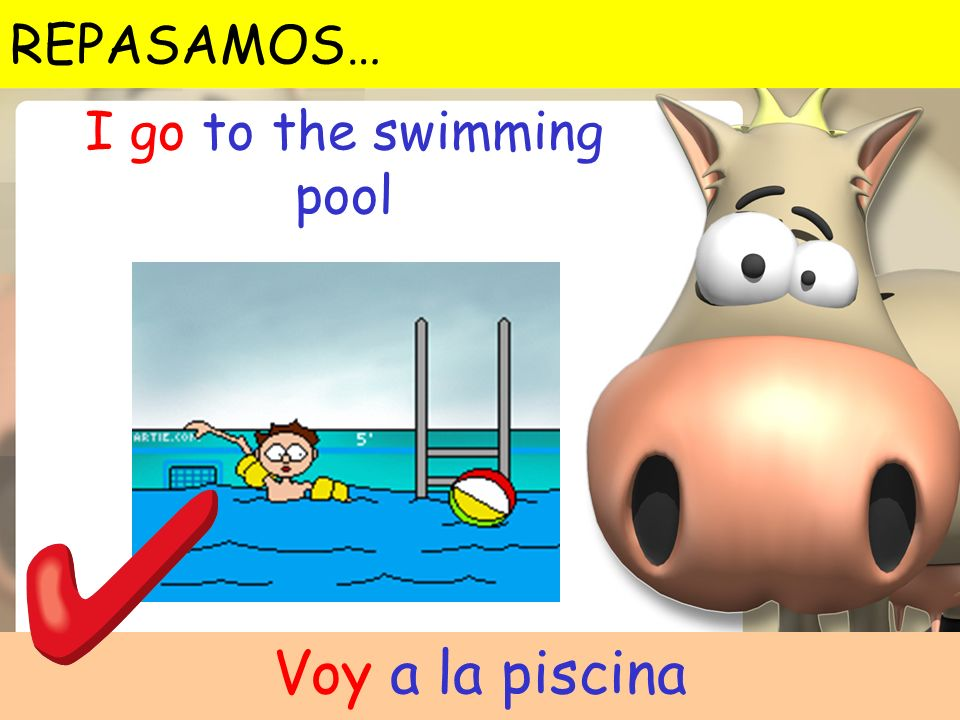 I go to the swimming pool