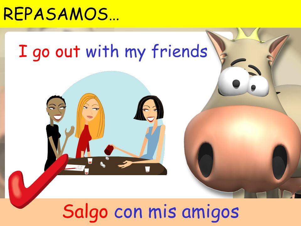 REPASAMOS… I go out with my friends Salgo con mis amigos