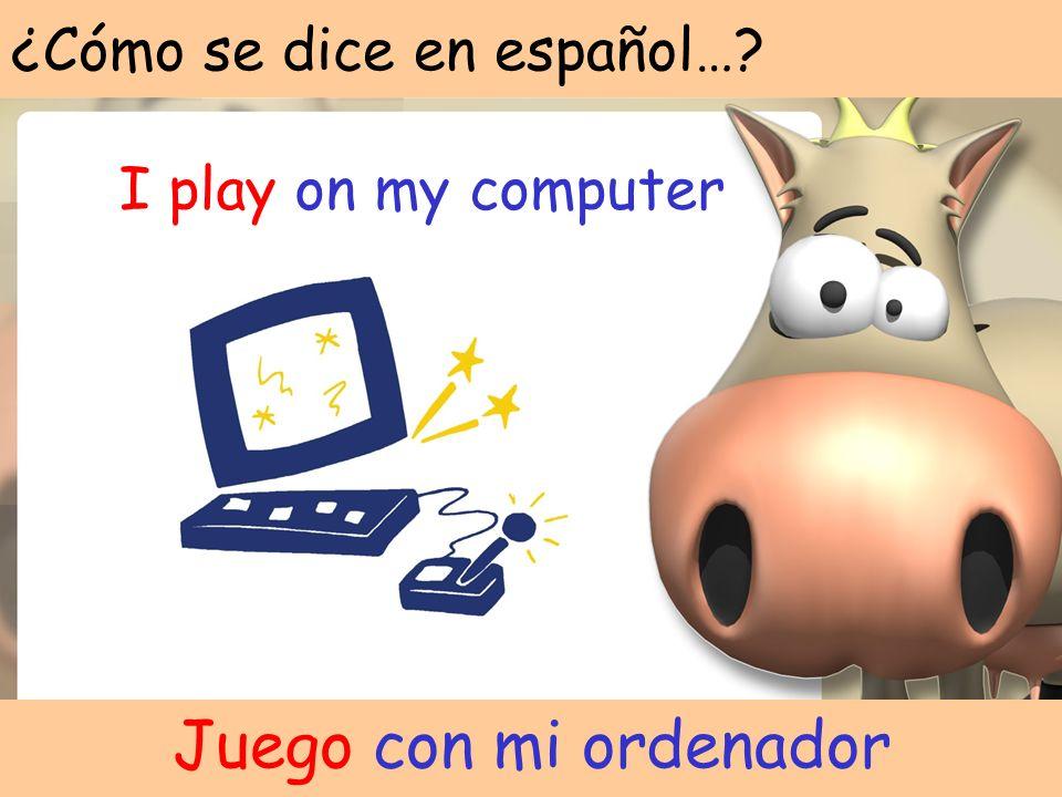¿Cómo se dice en español…