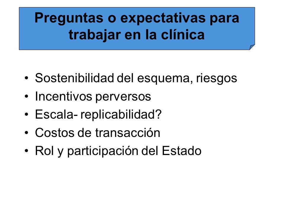 Preguntas o expectativas para trabajar en la clínica