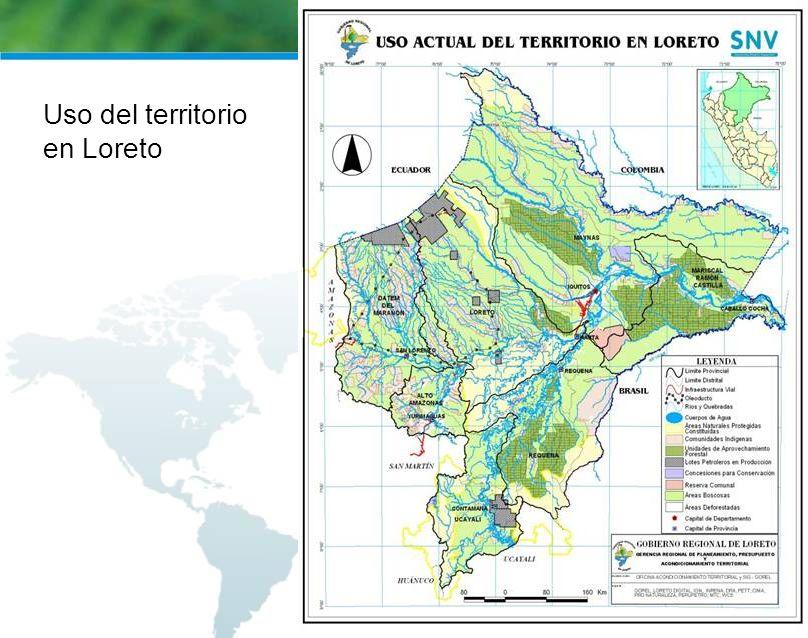 Uso del territorio en Loreto