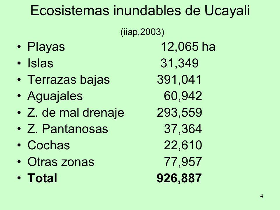 Ecosistemas inundables de Ucayali (iiap,2003)