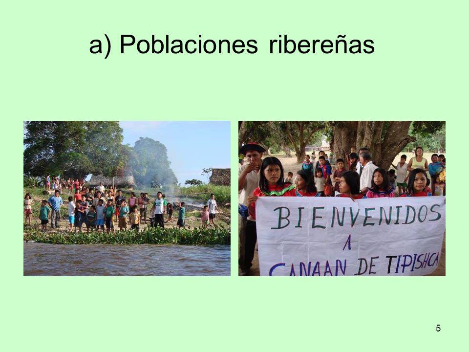 a) Poblaciones ribereñas