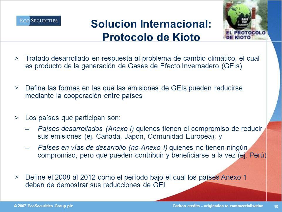 Solucion Internacional: Protocolo de Kioto