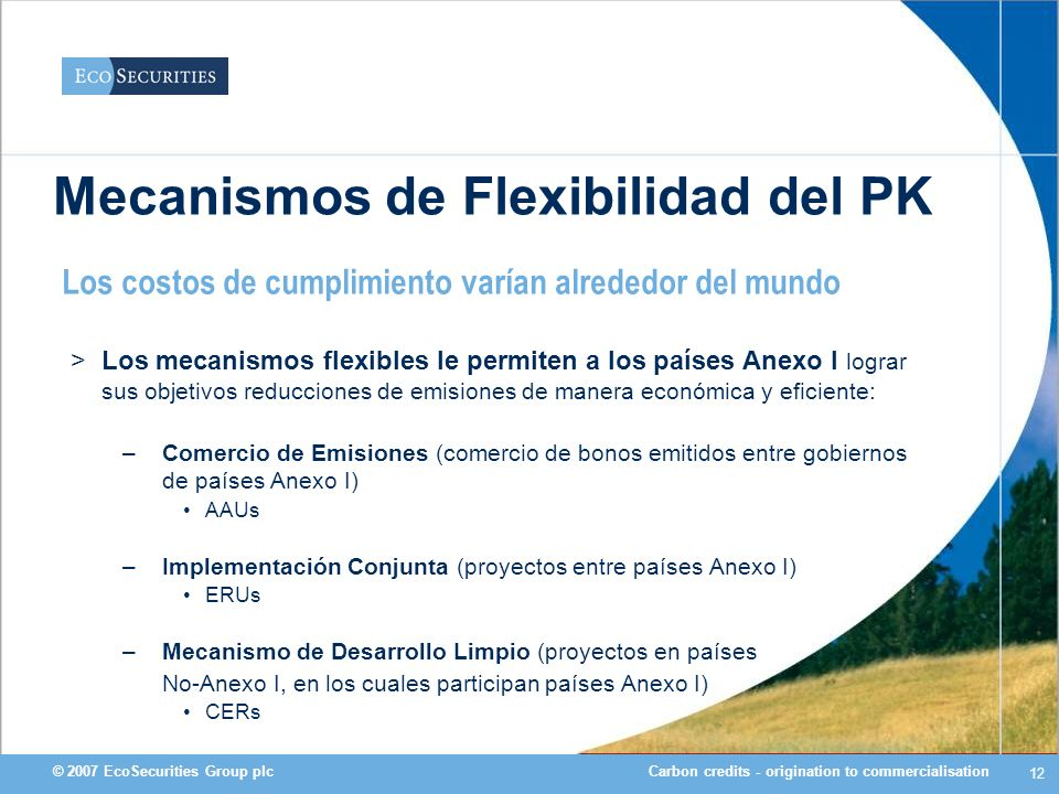 Mecanismos de Flexibilidad del PK