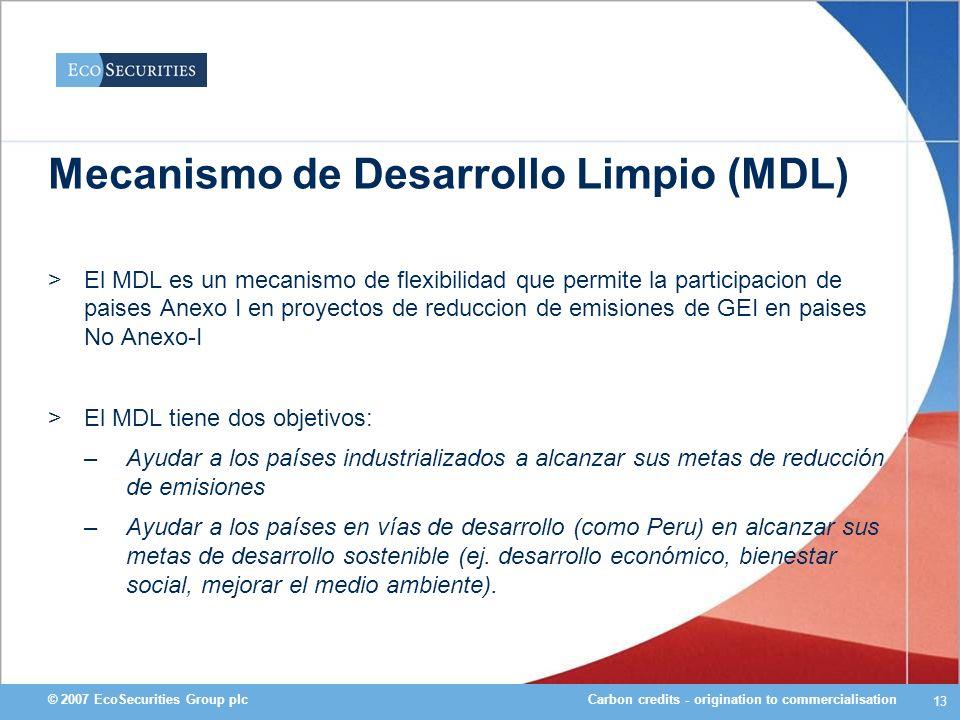 Mecanismo de Desarrollo Limpio (MDL)