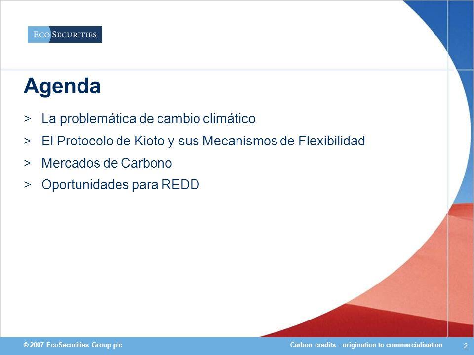 Agenda La problemática de cambio climático