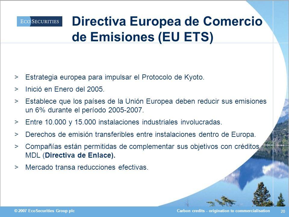 Directiva Europea de Comercio de Emisiones (EU ETS)