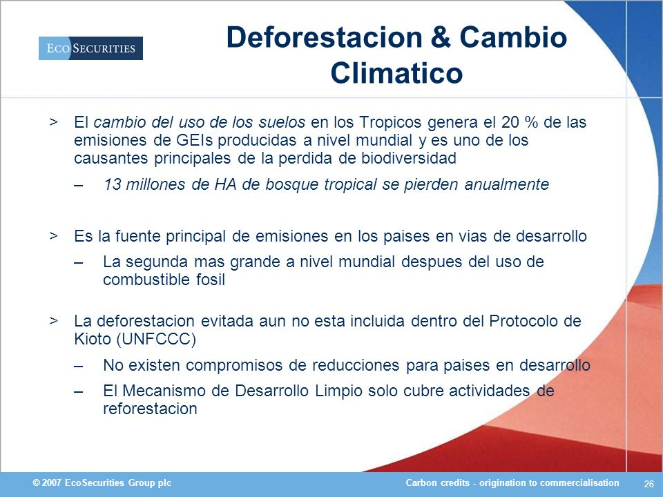Deforestacion & Cambio Climatico