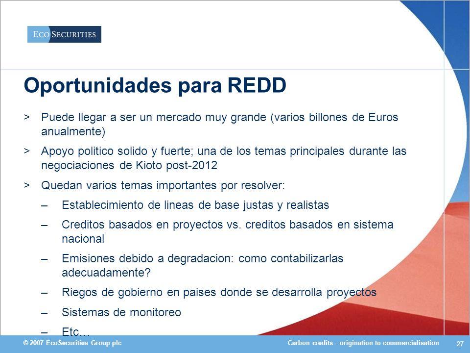 Oportunidades para REDD
