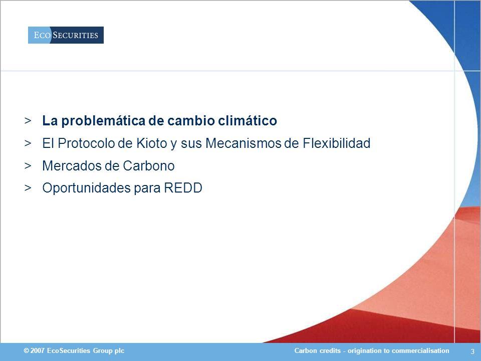 La problemática de cambio climático