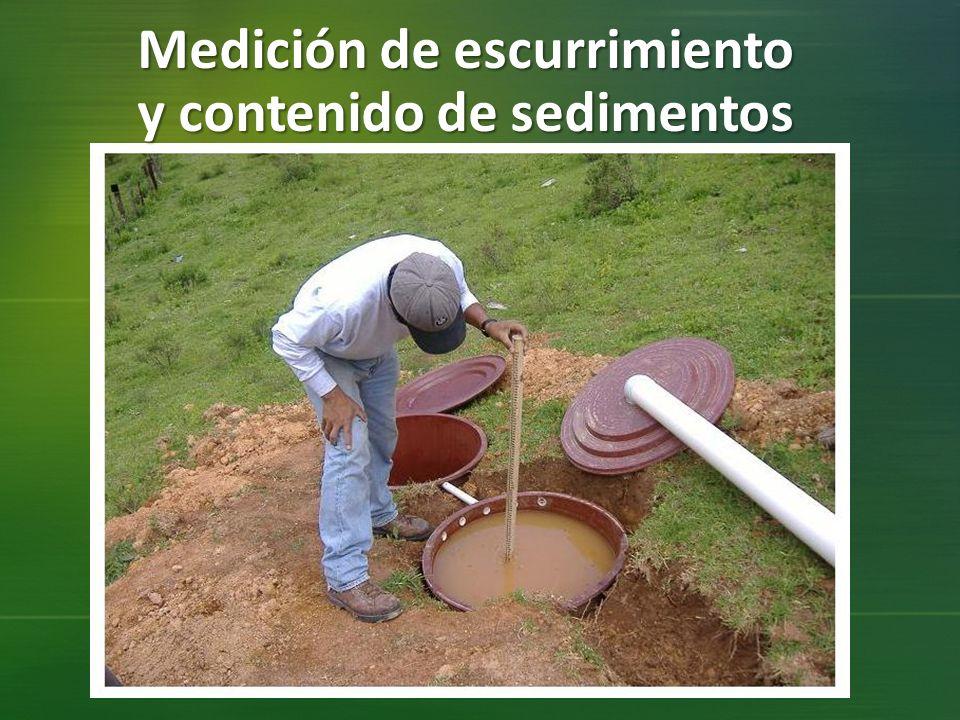 Medición de escurrimiento y contenido de sedimentos