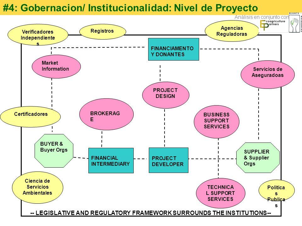 #4: Gobernacion/ Institucionalidad: Nivel de Proyecto