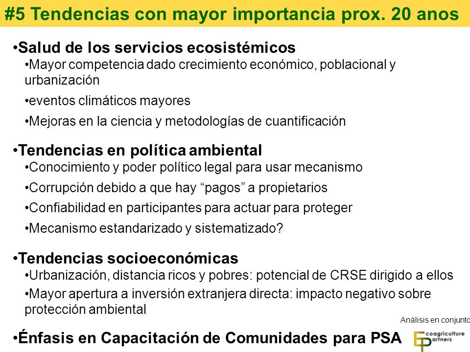 #5 Tendencias con mayor importancia prox. 20 anos