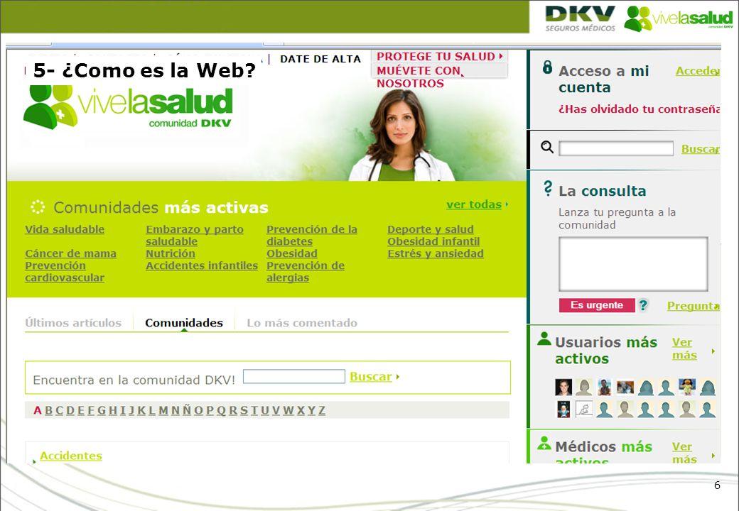 5- ¿Como es la Web