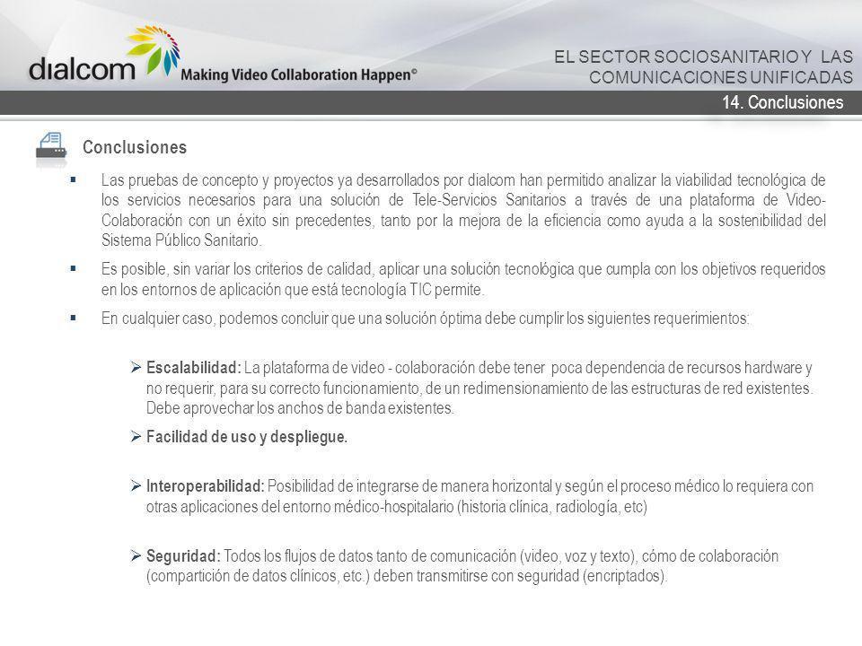 Conclusiones 14. Conclusiones EL SECTOR SOCIOSANITARIO Y LAS