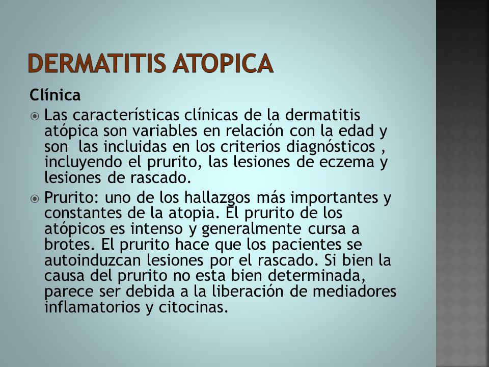 Dermatitis atopica Clínica