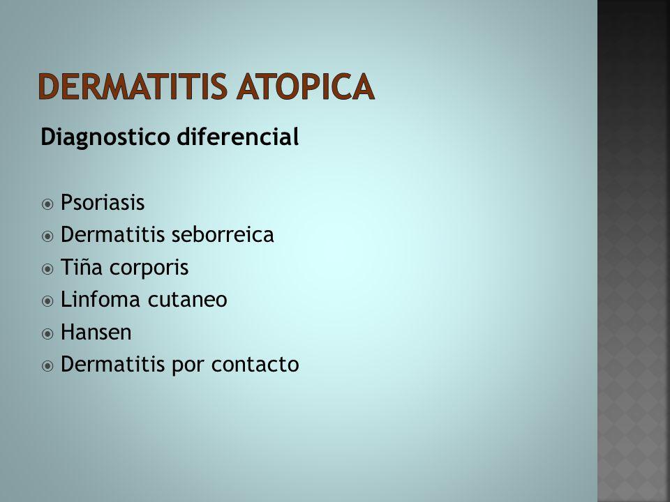 Dermatitis atopica Diagnostico diferencial Psoriasis
