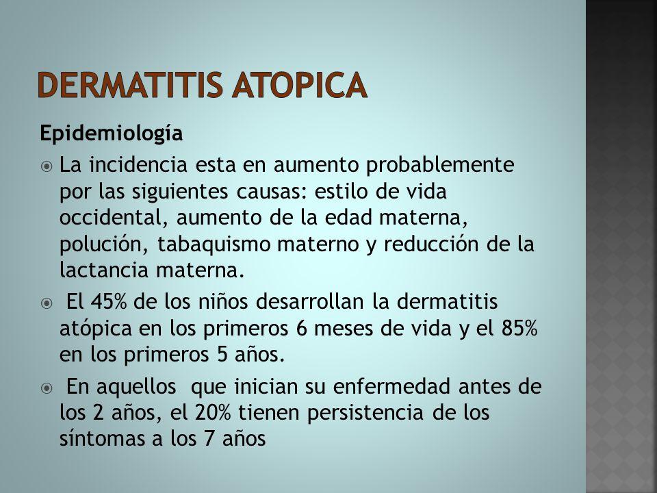 Dermatitis atopica Epidemiología
