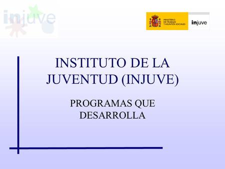 INSTITUTO DE LA JUVENTUD (INJUVE)