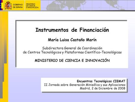 Instrumentos de Financiación