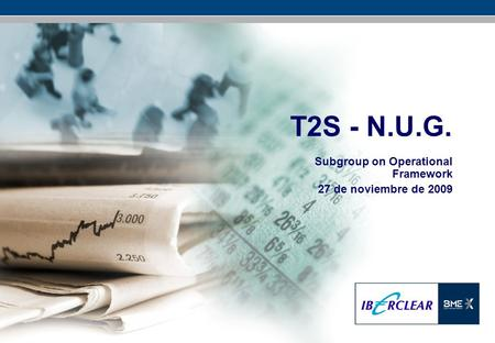 T2S - N.U.G. Subgroup on Operational Framework 27 de noviembre de 2009.