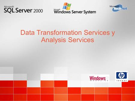 Data Transformation Services y Analysis Services