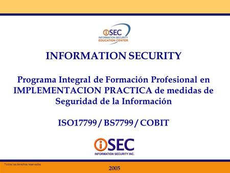 INFORMATION SECURITY Programa Integral de Formación Profesional en