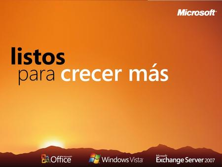 Bienvenidos a Reality IT Agenda Acto I: 9:45 – 11:20 Vista Exchange Colaboración Break: 11:20 – 11:35 Acto II: 11:35 – 13:00 Sharepoint Office.