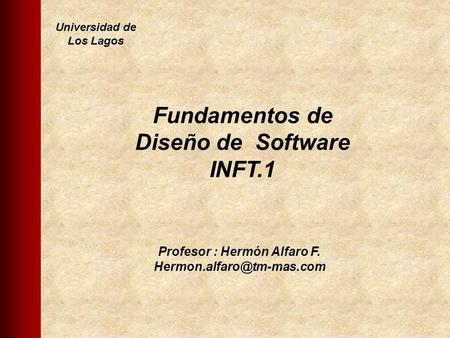 Fundamentos de Diseño de Software INFT.1