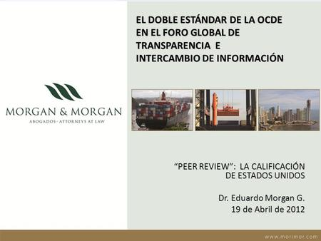 """PEER REVIEW"":  LA CALIFICACIÓN DE ESTADOS UNIDOS Dr. Eduardo Morgan G."