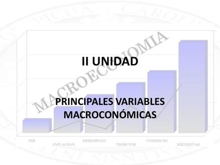 PRINCIPALES VARIABLES MACROCONÓMICAS