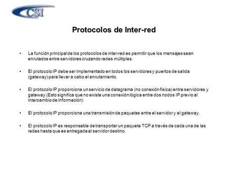 Protocolos de Inter-red
