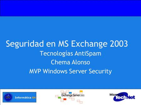 Seguridad en MS Exchange 2003
