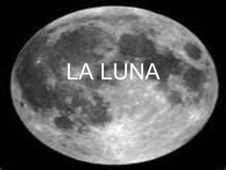 La luna – cuarto menguante - ppt descargar