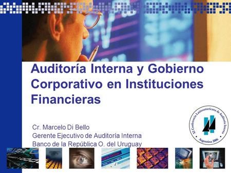 Auditoría Interna y Gobierno Corporativo en Instituciones Financieras