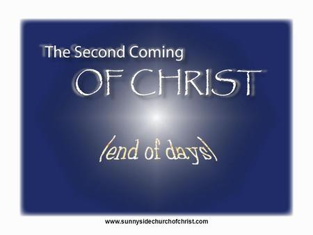 There are many doctrines associated with the second coming of Christ either directly or indirectly. With the second coming of Christ we may think of the.