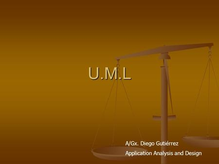 U.M.L A/Gx. Diego Gutiérrez Application Analysis and Design.