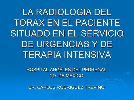 HOSPITAL ANGELES DEL PEDREGAL CD. DE MEXICO