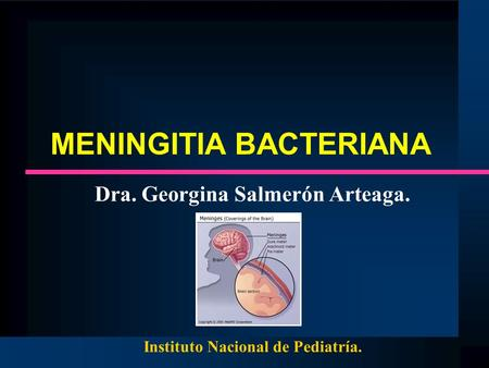 MENINGITIA BACTERIANA