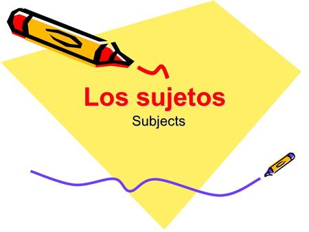 Los sujetos Subjects. Los sujetos singulares Yo = I Tú = You (informal) Él = he / Ella = she / Usted (ud) = you (formal)