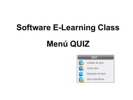 Software E-Learning Class